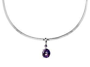 Pre-Owned Purple Moroccan Amethyst Enhancer With Silver Collar 6.14ctw
