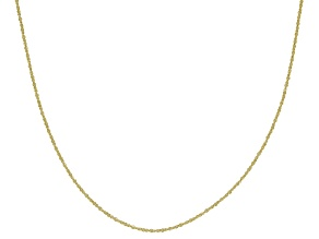 Pre-Owned 10K Yellow Gold .6MM Criss Cross Chain Necklace 18 Inch