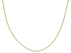 Pre-Owned 10K Yellow Gold .6MM Criss Cross Chain Necklace 20 Inch