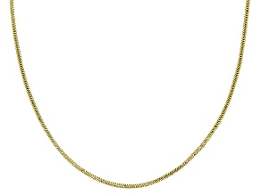 Pre-Owned 10K Yellow Gold 1.4MM Diamond Cut Snake Chain Necklace 20 Inch