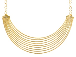 Pre-Owned 18k Yellow Gold Over Bronze Omega Necklace 18 inch