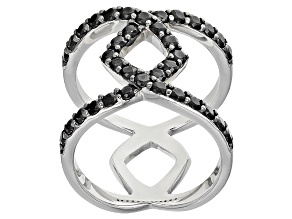 Pre-Owned Black Spinel Silver Ring 1.32ctw