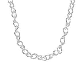 Pre-Owned Sterling Silver 4mm Cable Link Chain Necklace 18 Inches
