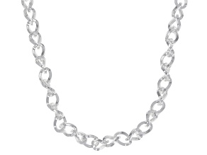 Pre-Owned Sterling Silver 4mm Cable Chain Necklace 20 Inches