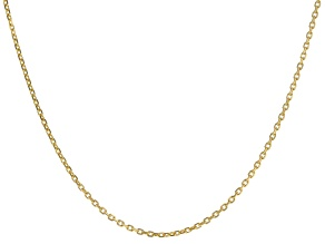 """Pre-Owned 14K Yellow Gold 1MM Diamond Cut 18"""" Cable Chain Necklace"""