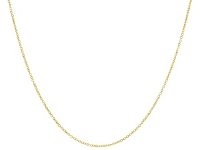 Pre-Owned 10K Yellow Gold Rolo Chain Necklace 18 Inch.