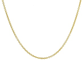 Pre-Owned 10K Yellow Gold Rolo 24 Inch Chain
