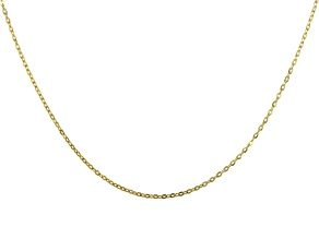 Pre-Owned 10K Yellow Gold Mirror Cable Necklace 16 Inches
