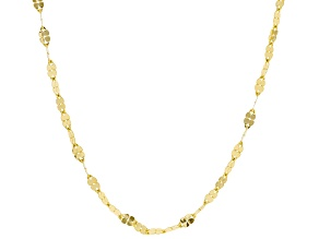 Pre-Owned 10k Yellow Gold Clover Necklace 24 inch