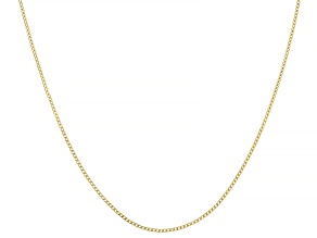 Pre-Owned Splendido Oro™ 14K Yellow Gold Baby Curb Chain  18 Inch Necklace