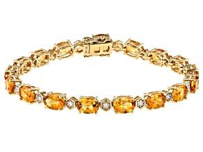 Pre-Owned Golden Citrine 14k Yellow Gold Bracelet 11.78ctw