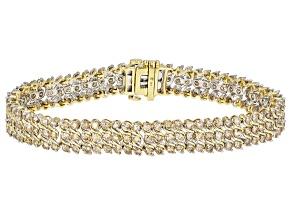 Pre-Owned Diamond 10K Yellow Gold Tennis Bracelet 6.00ctw