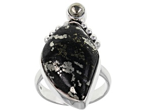Pre-Owned Apache Gold & Pyrite Sterling Silver Ring