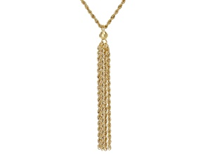 Pre-Owned 10K Yellow Gold Tassel Rope Chain 20 Inch Necklace