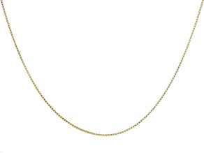 Pre-Owned 10K Yellow Gold 1.06MM Box Chain 20 Inch Necklace