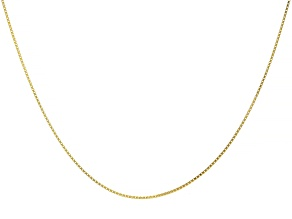 Pre-Owned 10K Yellow Gold 1.06MM Box Chain 24 Inch Necklace
