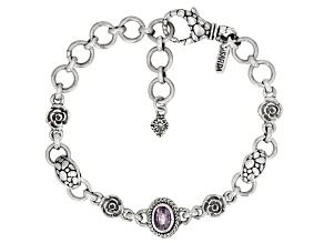 Pre-Owned Berry Spinel Sterling Silver Bracelet 0.77ctw