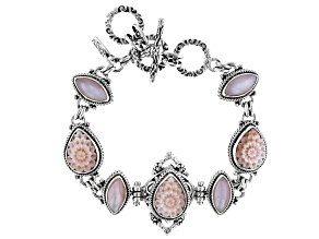 Pre-Owned Pink Mother Of Pearl Silver Bracelet