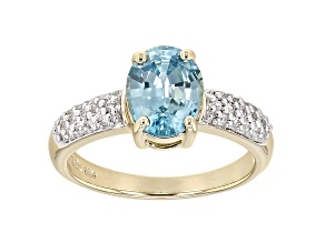 Pre-Owned Blue Zircon 10k Yellow Gold Ring 2.23ctw