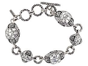 "Pre-Owned Sterling Silver ""Opened Eyes"" Bracelet"