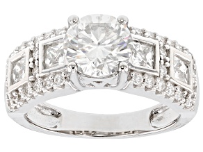 Pre-Owned Moissanite Platineve Ring 2.54ctw DEW