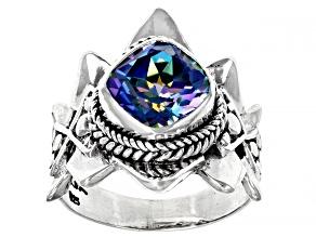 Pre-Owned True Picasso™ Mystic Quartz® Silver Ring 2.47ct