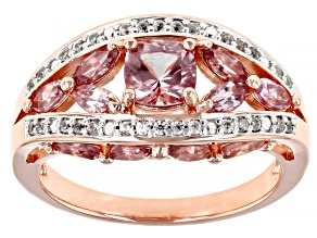 Pre-Owned Multi-Color Color Shift Garnet 18K Rose Gold Over Sterling Silver Ring 2.01ctw
