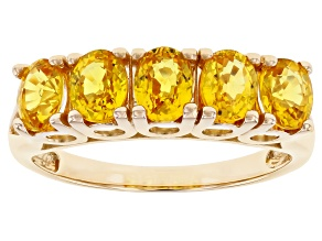 Pre-Owned Yellow Sapphire 14k Yellow Gold Ring 2.13ctw