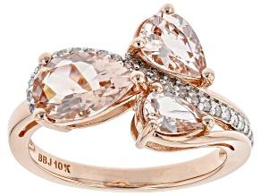Pre-Owned Peach Morganite 10K Rose Gold Ring 1.80ctw