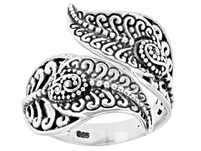 """Pre-Owned Sterling Silver """"Flower Collection"""" Filigree Bypass Ring"""