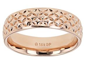Pre-Owned Moda Al Massimo® 18K Rose Gold Over Bronze Comfort Fit 6MM Designer Band Ring
