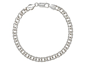 Pre-Owned Sterling Silver 5MM Twisted Curb Link Bracelet