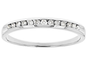 Pre-Owned White Diamond 14k White Gold Band Ring 0.15ctw