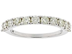 Pre-Owned White Diamond 14K White Gold Band Ring 1.00ctw