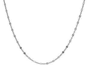 Pre-Owned Sterling Silver 3.20MM Flat Rolo Link Necklace 20 Inches