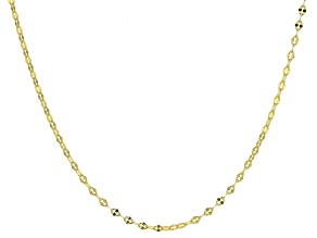 """Pre-Owned 10K Yellow Gold Concave Anchor Mirror Necklace 20"""""""