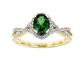Pre-Owned Green Tsavorite 10k Yellow Gold Ring 1.06ctw