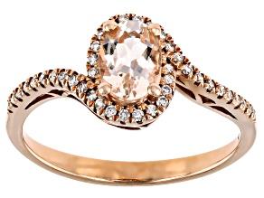 Pre-Owned Peach Cor-de-Rosa Morganite™ 10k Rose Gold Ring 0.85ctw
