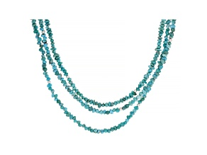 Pre-Owned Kingman Turquoise Sterling Silver 3-Strand Necklace