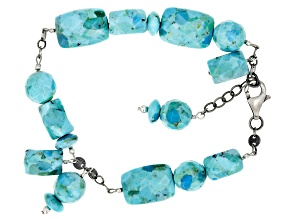 Pre-Owned Mohave Kingman Turquoise Sterling Silver Bracelet