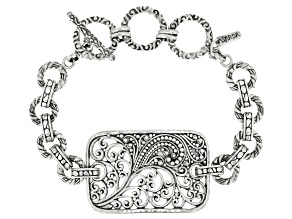"""Pre-Owned Sterling Silver """"According To A Purpose"""" Bracelet"""