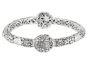 """Pre-Owned Sterling Silver """"Chosen, Holy, And Dearly Loved"""" Bangle Bracelet"""