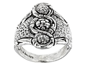 """Pre-Owned Sterling Silver """"Perfector Of Faith"""" Ring"""