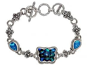 Pre-Owned Quartz Doublet Silver Bracelet