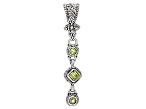 Pre-Owned Green Peridot Sterling Silver Pendant 1.09ctw