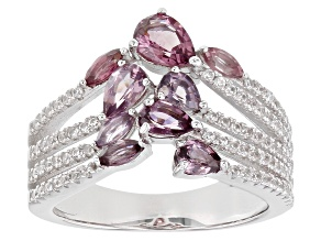 Pre-Owned Multi-Color Spinel Rhodium Over Silver Ring 2.06ctw
