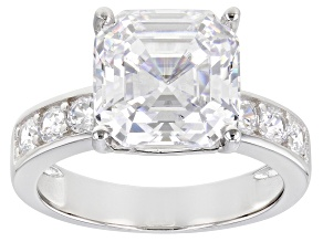 Pre-Owned White Cubic Zirconia Rhodium Over Silver Ring (4.26ctw DEW)