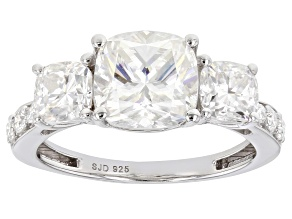 Pre-Owned Moissanite Platineve Ring 3.80ctw DEW.