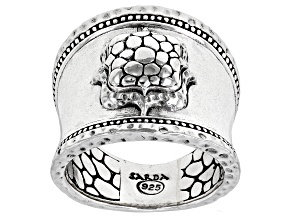 """Pre-Owned Silver Hammered """"Faithful You Are"""" Ring"""