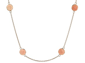 Pre-Owned Pink Eithopian Opal 18K Rose Gold Over Silver  Necklace